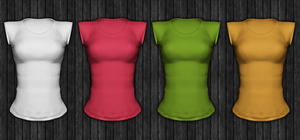 Ladies Short Sleeved Shirt Template psd file by vesperTiLo