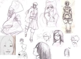 Old Sketches, Sketch Dump by mandygugs