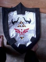 Dark Link Shield WIP by Psychodelicon