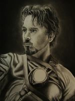 Tony Stark Study traditional by Arc-Su-Namun