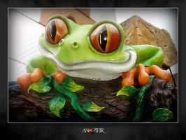 RAINFOREST  FROG by ANOZER