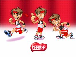 Mascot design for Nestle by SOSFactory