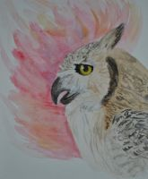 Great Horned Owlex by whitekratoswolf