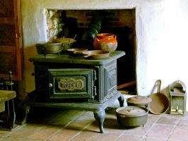 antique stove by clandestine-stock