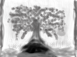 365 Days Sketch #2 [Waterfall Tree] (11 Sept) by Vincentmrl