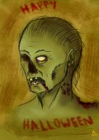 Halloween Zombie Speed Paint by Anararion