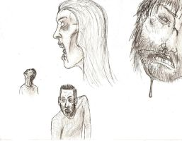 The Waking Dead sketches by Henrikossauros