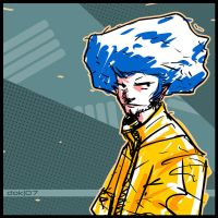 blue haired guy by dokrobei