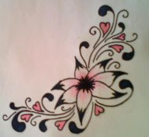 Flower Tattoo Design Colour by average-sensation