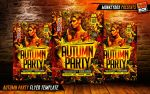 Autumn Party Flyer Template by AndyDreamm