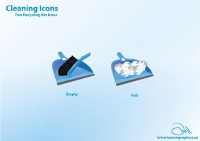 Cleaning Icons - Recycling Pan by robinweatherall