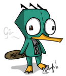 Perry the Platypus cosplay. by Midoriih