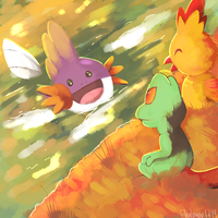 Pokemon Omega Ruby and  Alpha Sapphire starters by Phatmon66