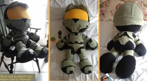 Giant Master Chief Plushie by Belle43