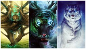 Godly Tigers - Wallpaper by sanguisGelidus