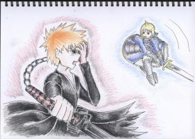 Ichigo vs Saber by angelic-swordien