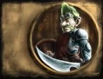 WoW Fanart - Gnome Warrior by Sem-Jaza