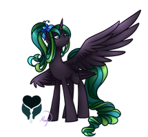 Princess Everfree - Alicorn OC redesign by LethalAuroraMage