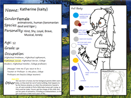 Fnaf rp college application kaity by mythcreatures23