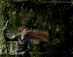 Captain Of The Guard - Tauriel Cosplay by MarineMaid