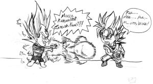 Vegeta vs Goku by Eijinet