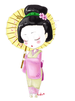 Chibi Geisha by Arishis
