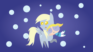 Derpy and Bubbles by RainbowDerp98
