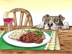 A Dog's Potential Steak Dinner by jessielp89
