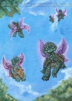Flying Fairy Turtles by sobeyondthis