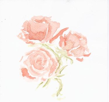 watercolor rose by TheCorinna