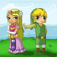 Link x Zelda - Trade by Anilede