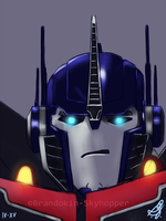 Optimus Prime Sketch by Brandokin-Skyhopper