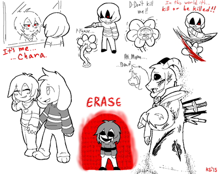 Undertale - Chara and Asriel by KGN-000