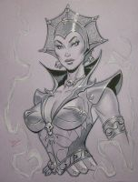 Evil Lyn con sketch by MichaelDooney
