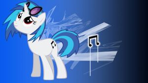 Vinyl Scratch 1366x768 by Borkky