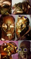 Steampunk Battle-Dancer Mask by Hexonal