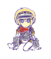 The Answer Aigis Q version sketch by supereva01