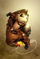 Rocketeer coloured by mistermoster