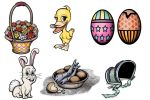 Cablevey Website Art  Easter Icons by RobertRoach