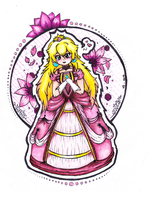 Princess Peach Drawing by InvaderCasie