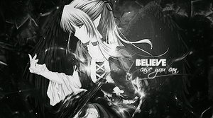 Believe Anime Tag by wh47
