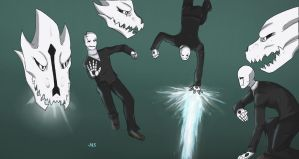 Gaster Poses by MasterSerris