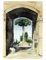 Archway on Apenine Hill, Rome by zingmatter
