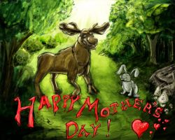 Mother's Day Moose by theCheeseGrater