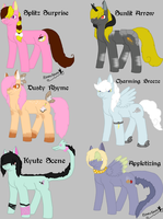 Female Pony Breedables 1 - Open by KittehzAdopts