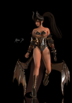 Naotora - Succubus Queen Material Test 1 by Konos-P