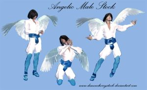Angelic Male PNG Stock by DemoncherryStock