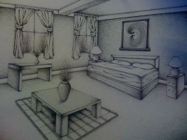 Two-Point Perspective Room by senx28