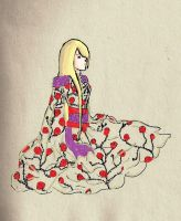 Ino a rose with thorns colored by SmileGodlovesyou