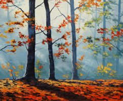 Sunlit Woods by artsaus